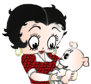 betty boop and pudgy