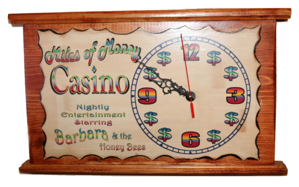 Create your own Vintage Casino Clock 17W x 10in H