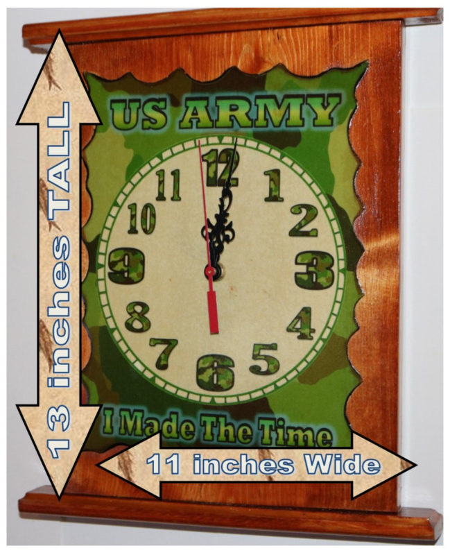 US Army Clock 13x11 B