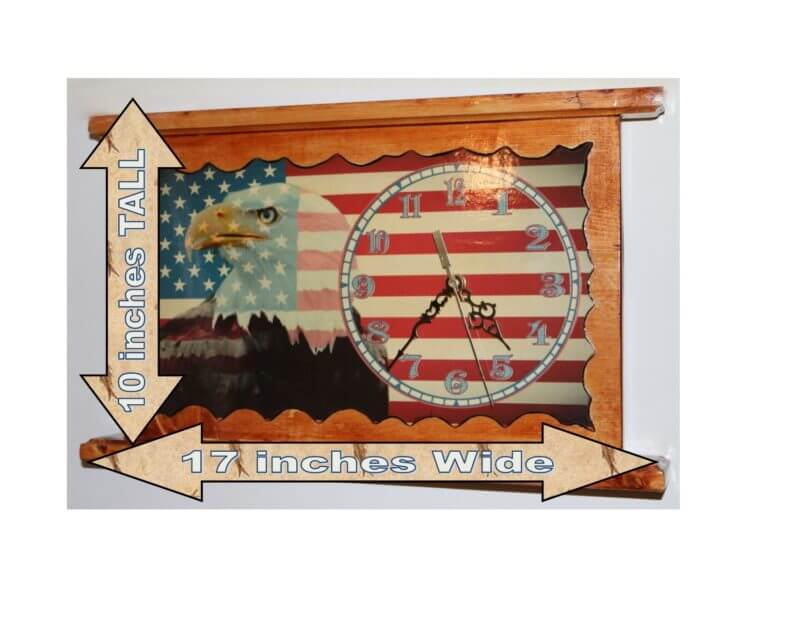 Eagle Flag Clock C