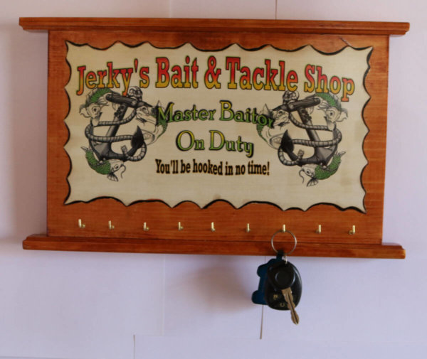 Jerkys Bait and tackle shop fishing sign size