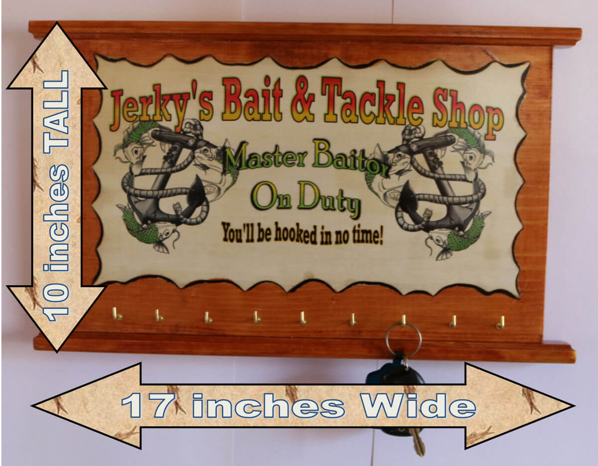 Jerkys Bait and tackle shop fishing sign c