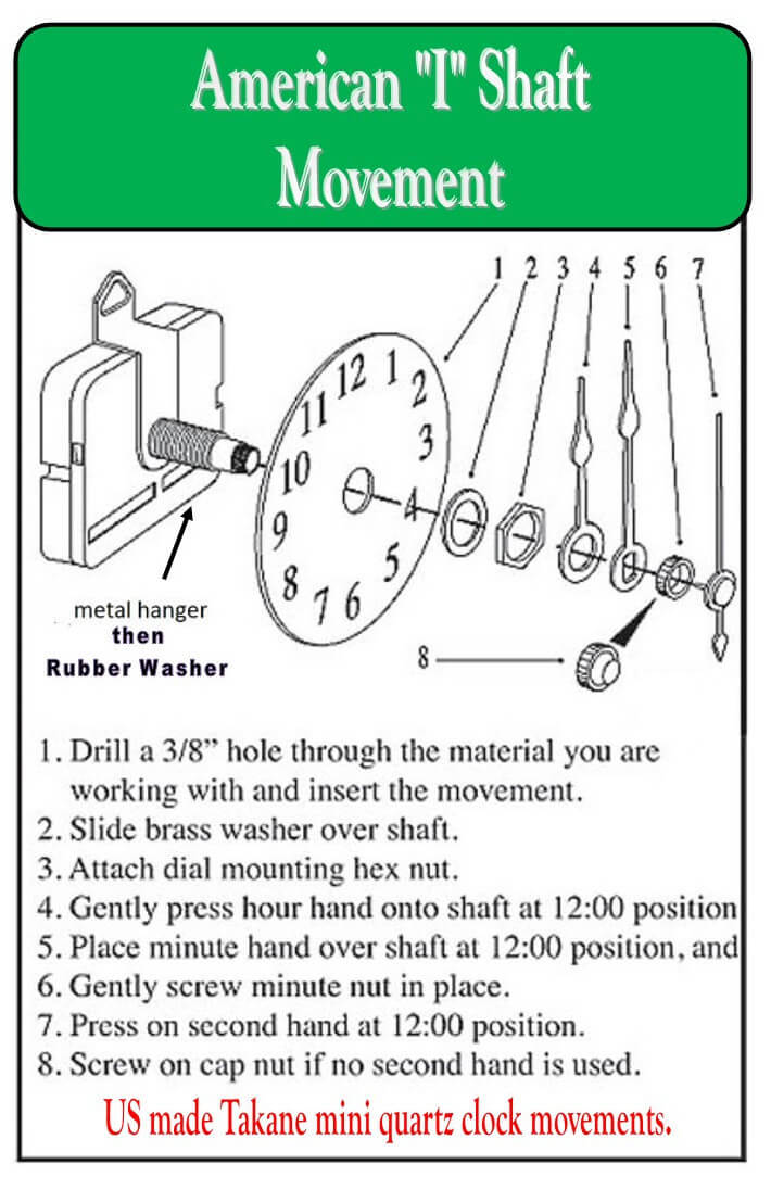 American Made how to assemble quartz clock