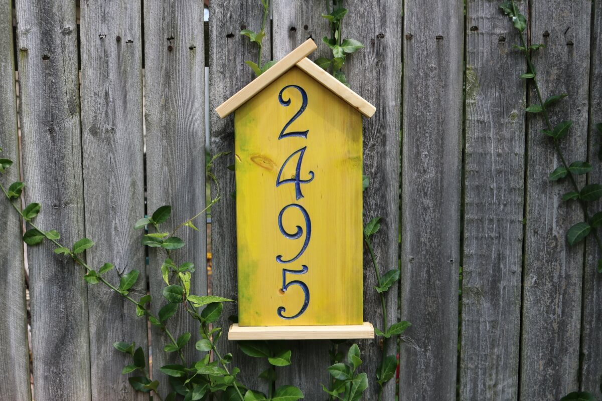 Bird House Address Number A