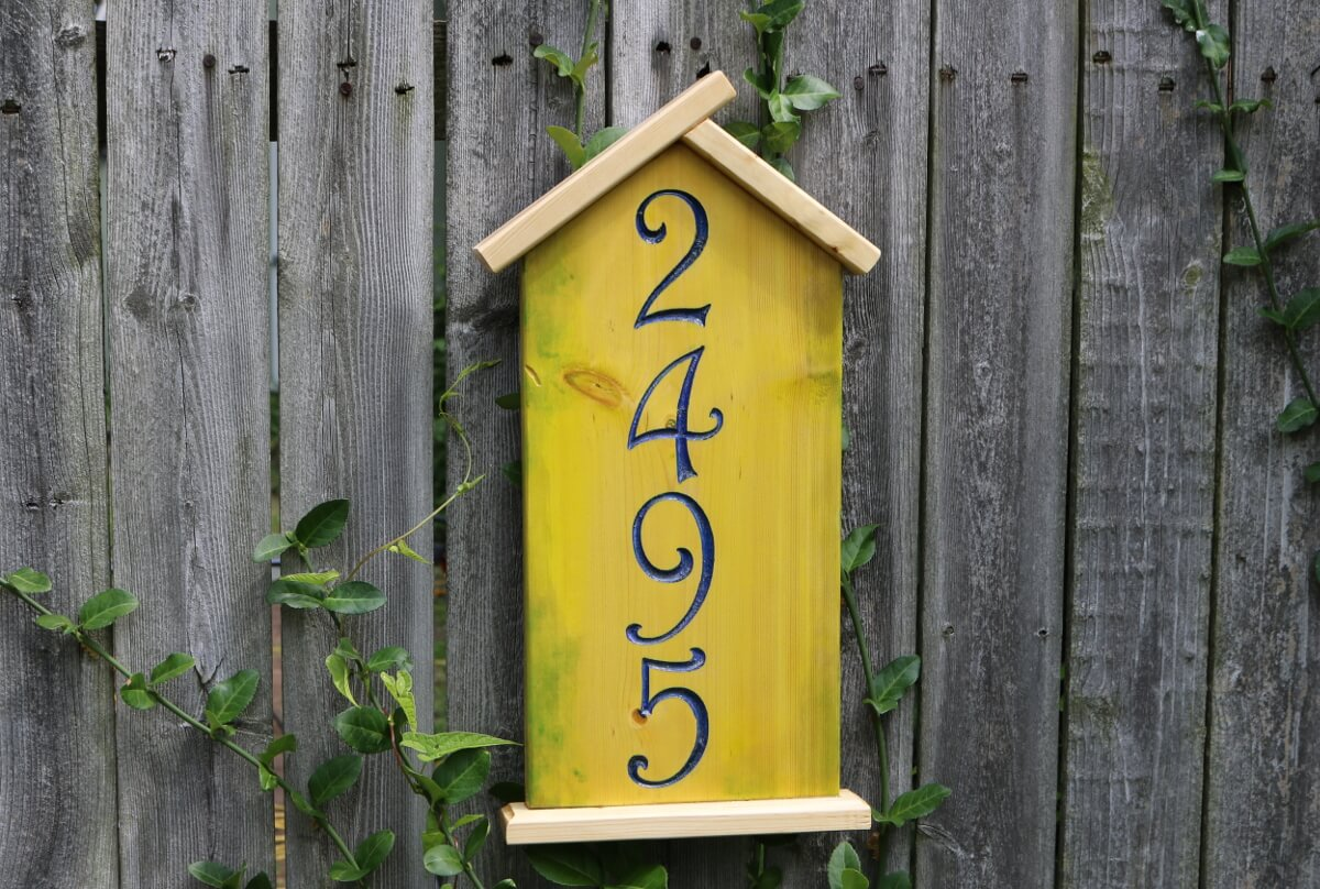 Bird House Address Number C