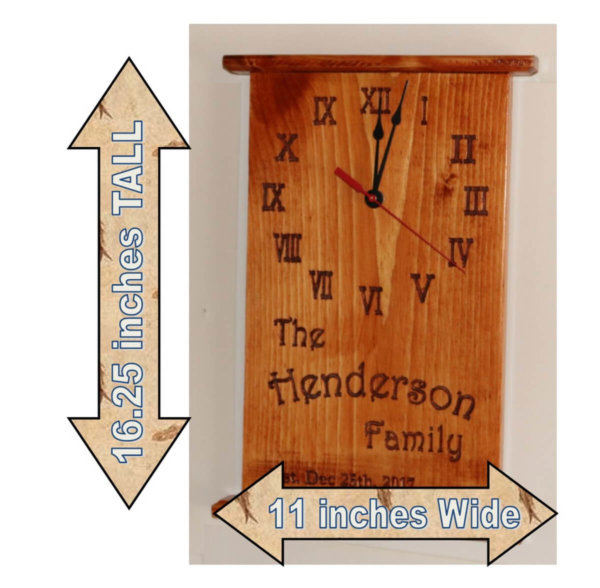 Family Name Clock Cattails Dz