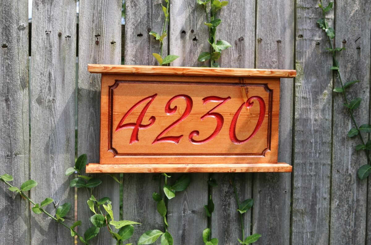 House Address Number Red A