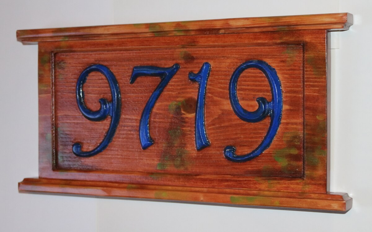 Mossy house address sign 9719