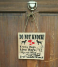 pitbull dog door sign
