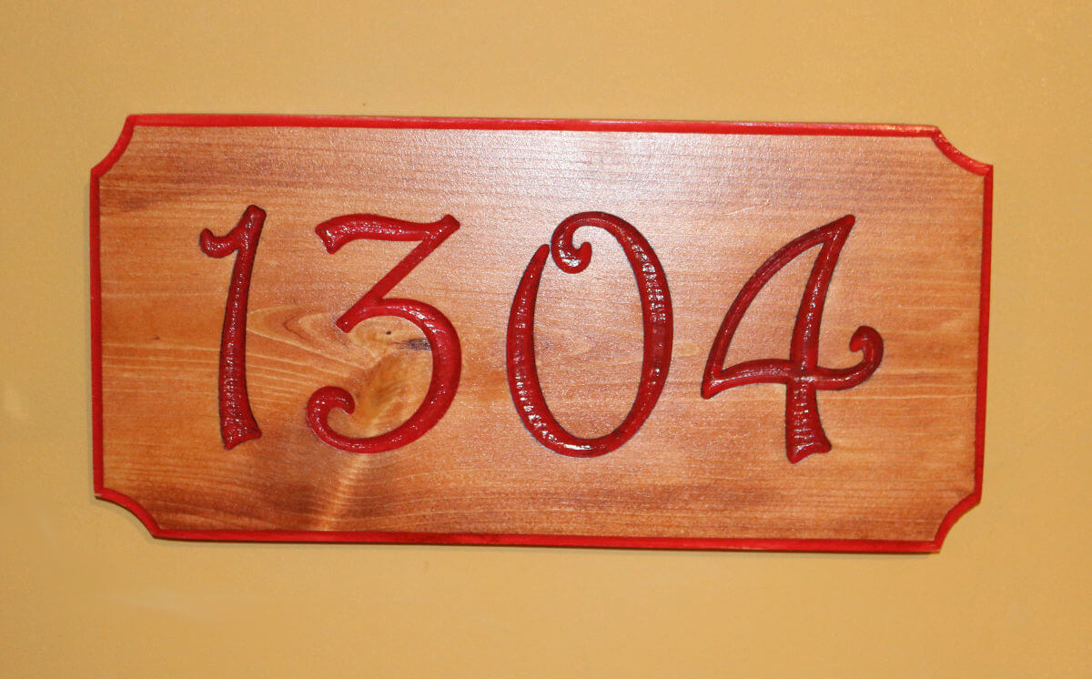 House Number Red 1304_A