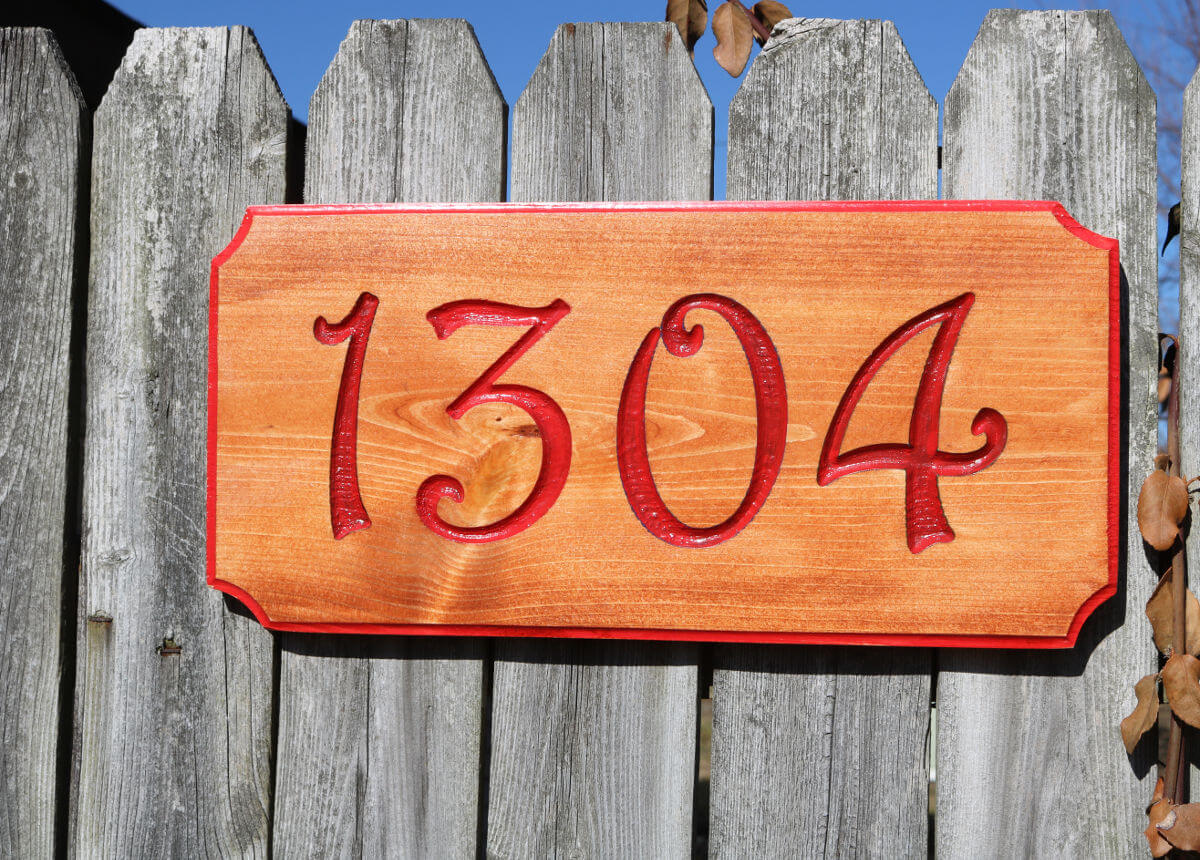 House Number Red 1304_D