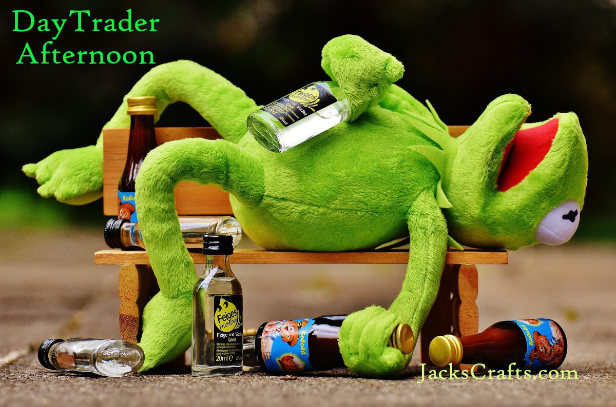 Day Trader Afternoon with Hermit the Frog