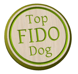 Fidelity top Dog button